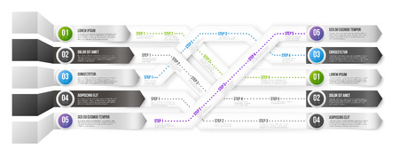 information point: Timeline Infographic Template with Steps