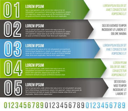 green arrows: Green Arrows Infographics Illustration