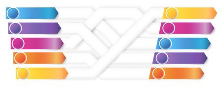 Plexiform infografics arrows vector pointed to different ways