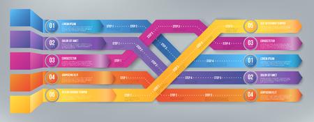 Infografics arrows, shuffled Illustration