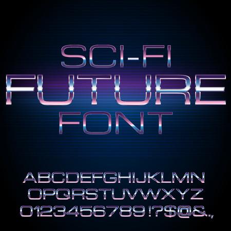 lazer: Sci-Fi retro font