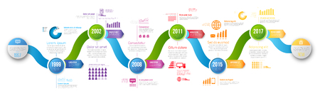 Infographics arrow timeline hystory template Illustration