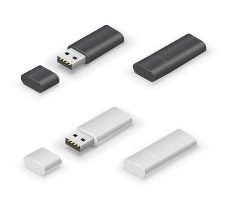 USB stick flash drive Illustration