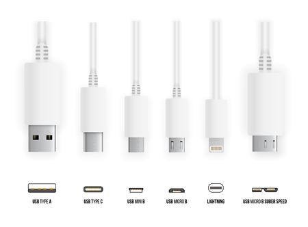 USB all type  イラスト・ベクター素材