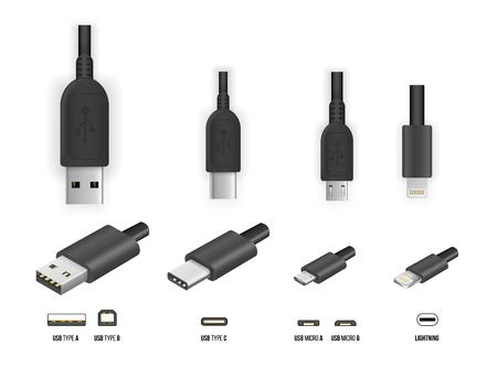 모든 타입의 USB 일러스트