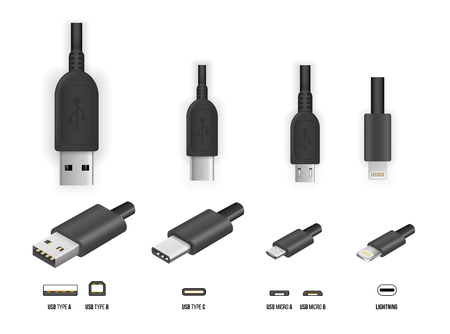 USB all type 向量圖像