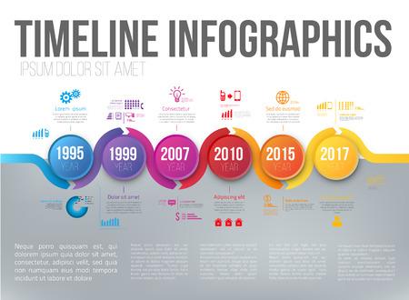 Infographics met 5 stappen of opties pijlen vector