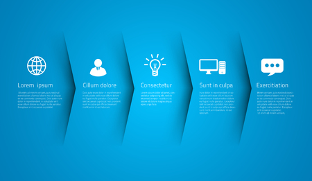 Infographic style colored menu or arrows option Illustration