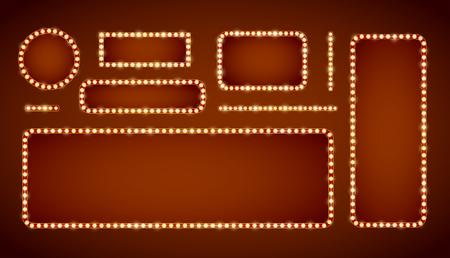 letreros: lámpara de marco Vectores