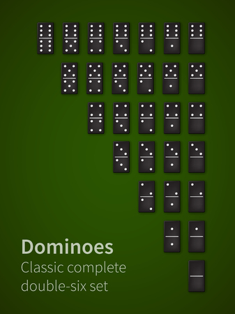 Dominoes bones set Illustration
