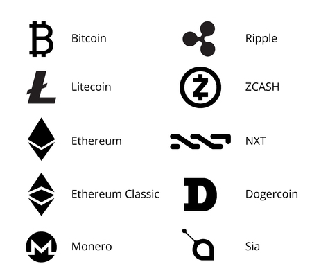 Cryptocurrency Logo Set