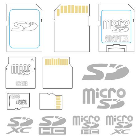 SD card symbols