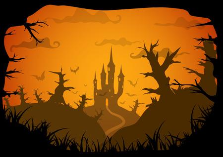 Halloween vector poster Illustration