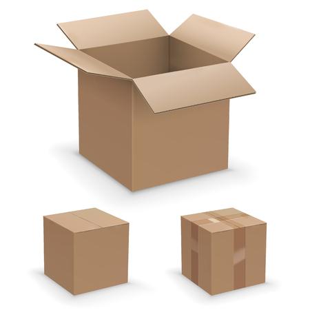 Conjunto de caja de vectores Ilustración de vector