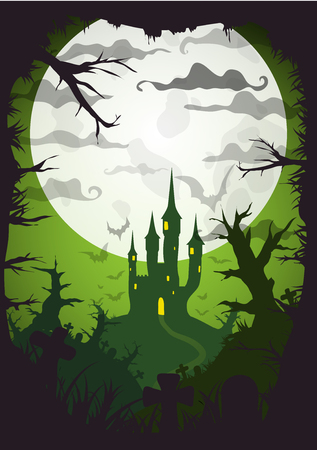 Halloween vector poster. Illustration