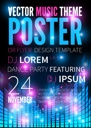 Music poster template. Illustration