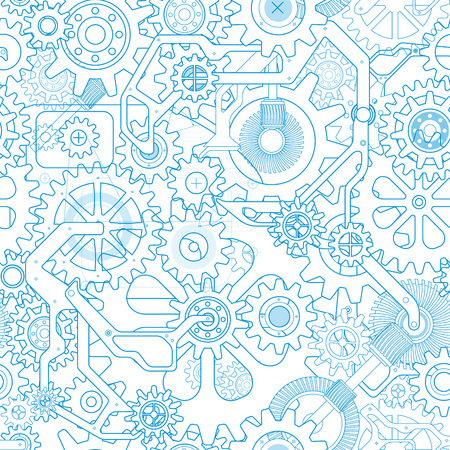 Clockworks gear background isolated on a white background