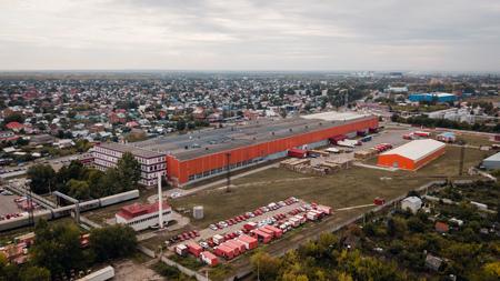 Big industrial store building Stok Fotoğraf