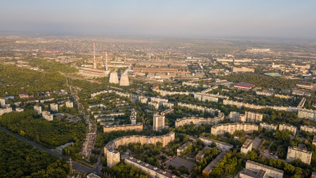 Panel city aerial