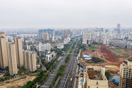 Asian city aerial