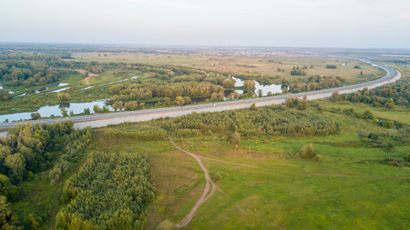 Road near forest Stok Fotoğraf