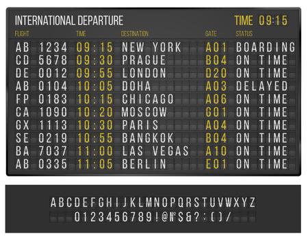 Tabelle Flughafen