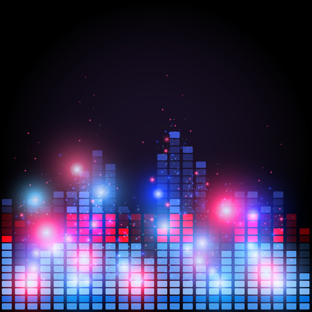 Old retro 80 style of equalizer, night music club life vector concept