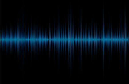 Ecualizador azul abstracto, gráfico de forma de onda de frecuencia Ilustración de vector