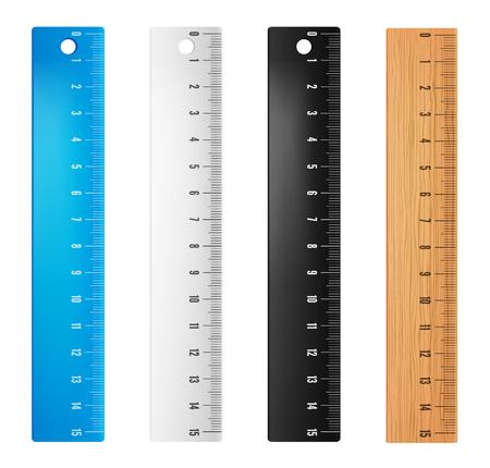 Plastic vector rulers Çizim