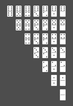 Dominoes bones set Çizim