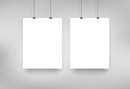 Three poster mockup Çizim