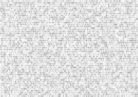 Sheet of binary code program screen on white vector background