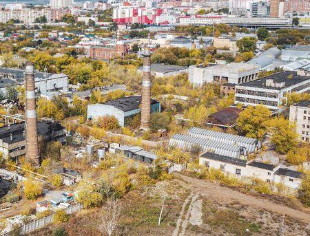 Fall city aerial