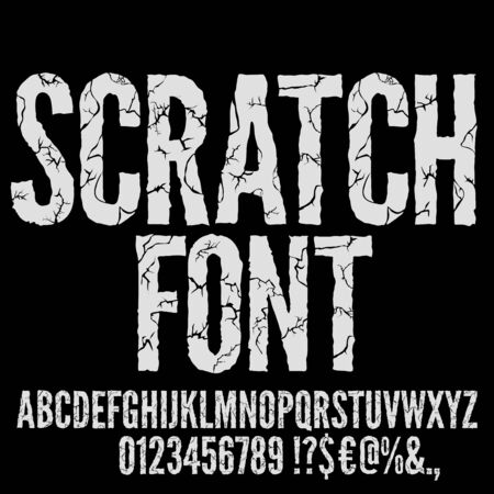 Cracked Vector Font