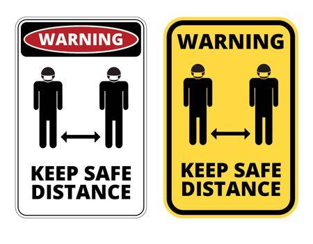 Covid-19 Danger Sign set
