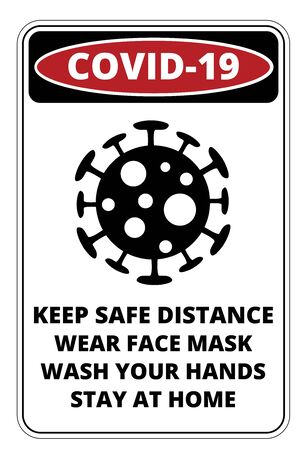 Covid-19 Danger Signs Set 일러스트