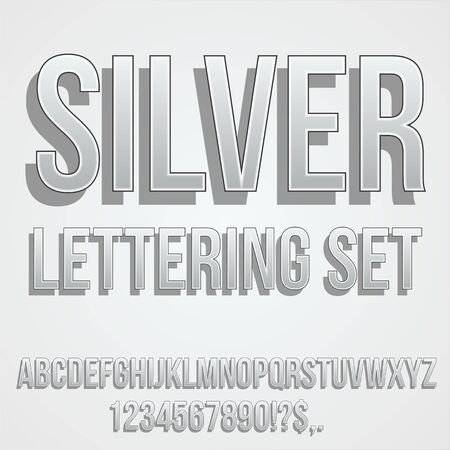 Gray silver Font 向量圖像