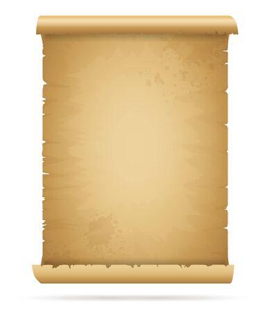 Old paper page Ilustración de vector