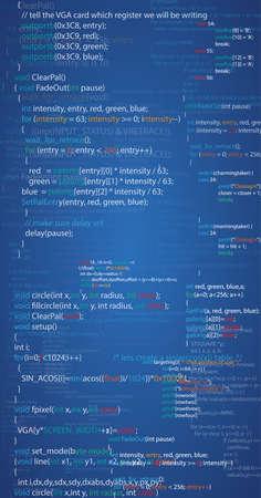 Program Script Code Vektorové ilustrace