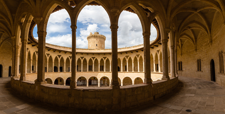 Colonnade of Belver castle, Palma of Majorca, Spain