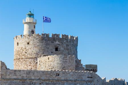 Fort of St. Nicholas in Rhodes, Greece