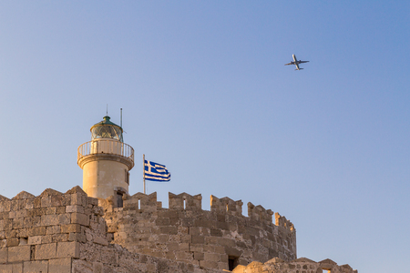 Fort of St. Nicholas in Rhodes, Greece