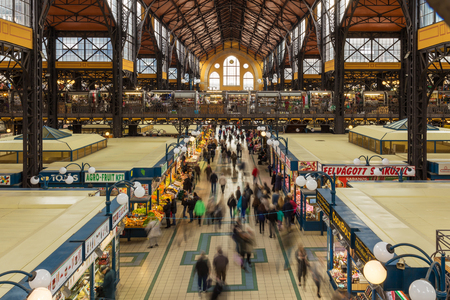 18 OCTOBER 2016. People on the Central Market. Budapest, Hungary Editoriali