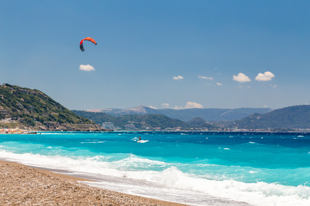 Kite surfer in the sea