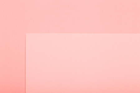 Geometric paper background. Living coral color mockup for flat layout compositions