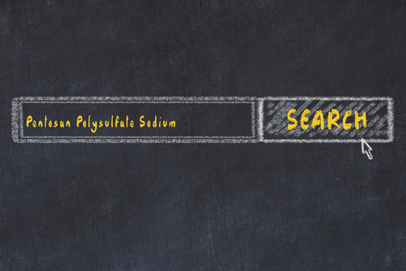 Medical concept  Chalk drawing of a search engine window looking