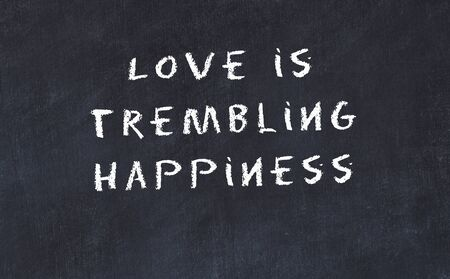 Black chalkboard with handwritten wise motivational quote . 版權商用圖片