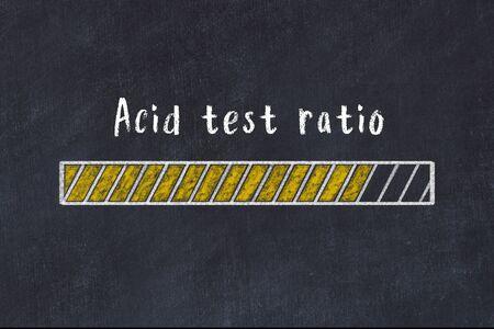 Chalk drawing of loading progress bar with inscription acid test ratio.