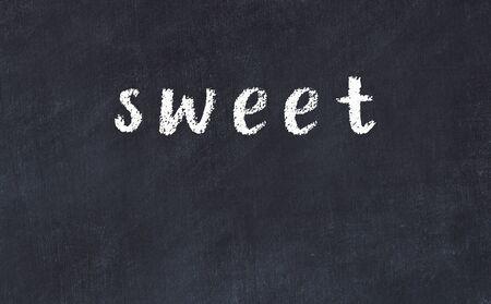 College chalkboard  with with handwritten inscription sweet on it 版權商用圖片 - 147916373