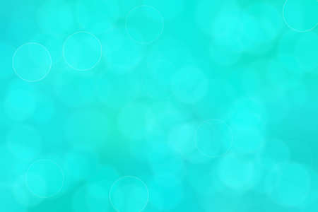 blue and green abstract defocused background with circle shape bokeh spots